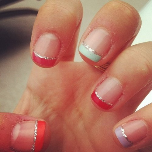 Colored French Manicure