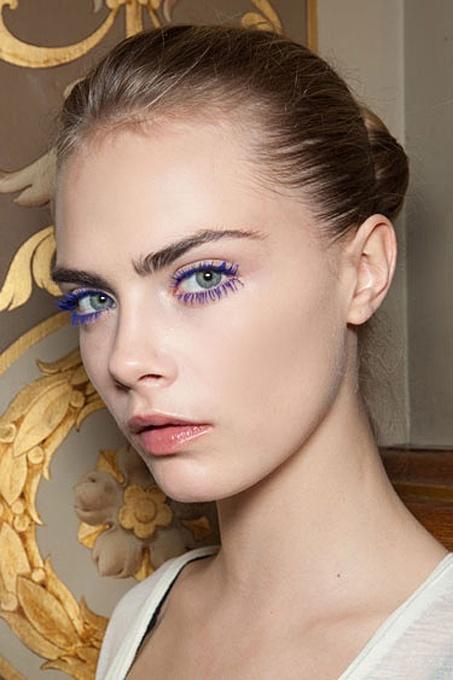 Colored Mascara Look