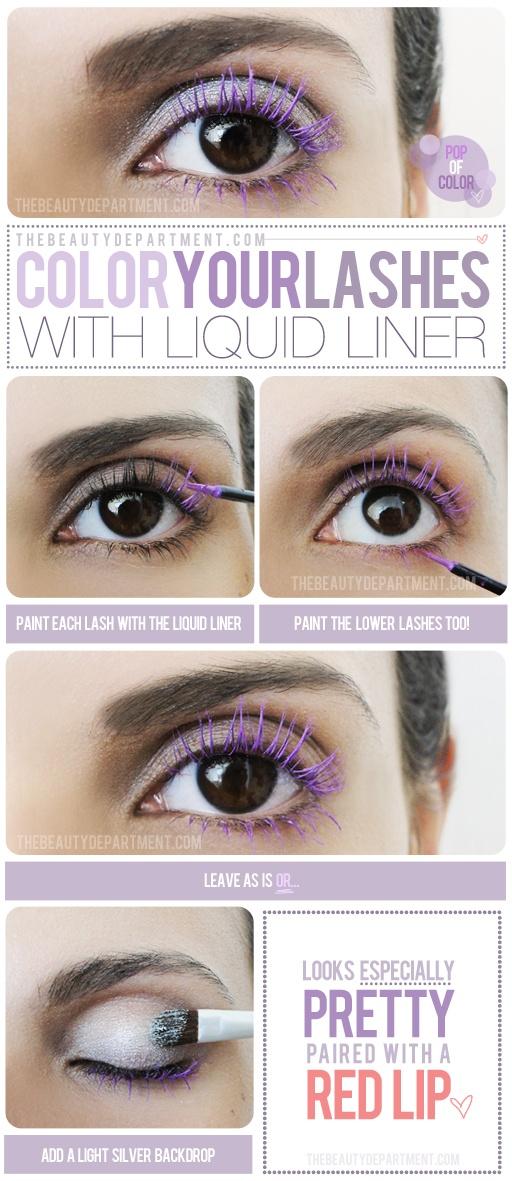 Colored Mascara Makeup Tutorial