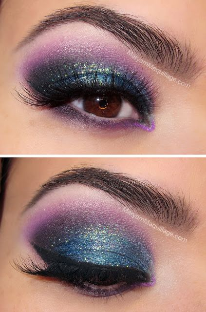 Colored Winged Smokey Eye Makeup