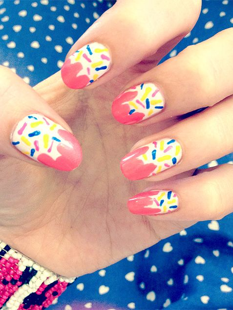 Cupcake Nail Art Design : 14 Awesome Cupcake Nail Art Designs for Girls - Pretty Designs