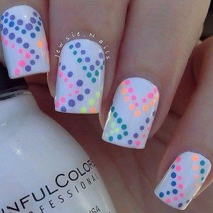 Colorful Dot Nails