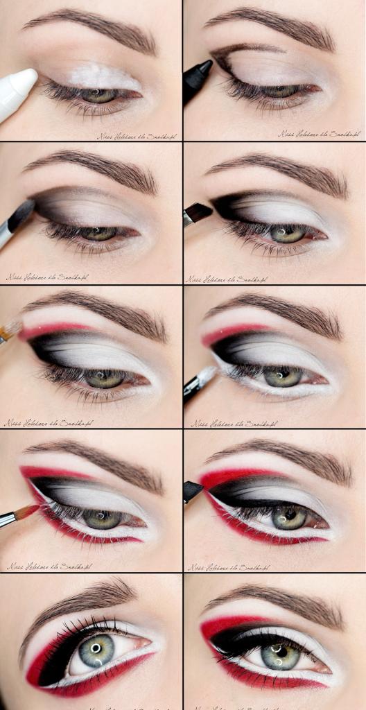 Colorful Eye Liner Makeup Tutorial for Blue Eyes