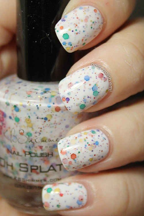 Colorful Glitter Nails