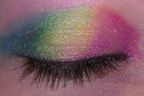 Colorful Ombre Eye Makeup