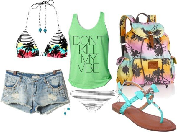 Cool Polyvore Combination for Beach