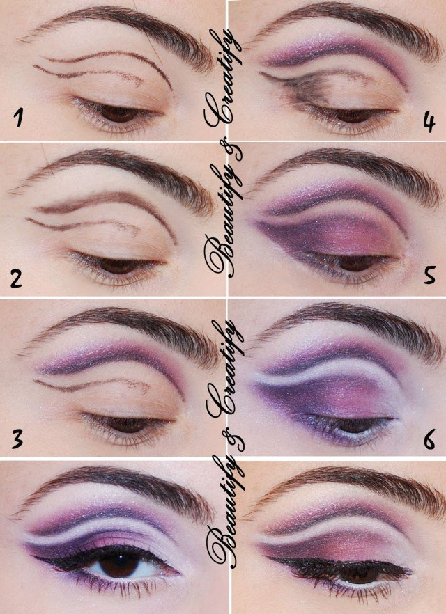 Creative Purple Eye Makeup Tutorial