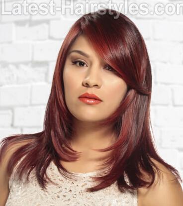 Crimson Layered Haircut