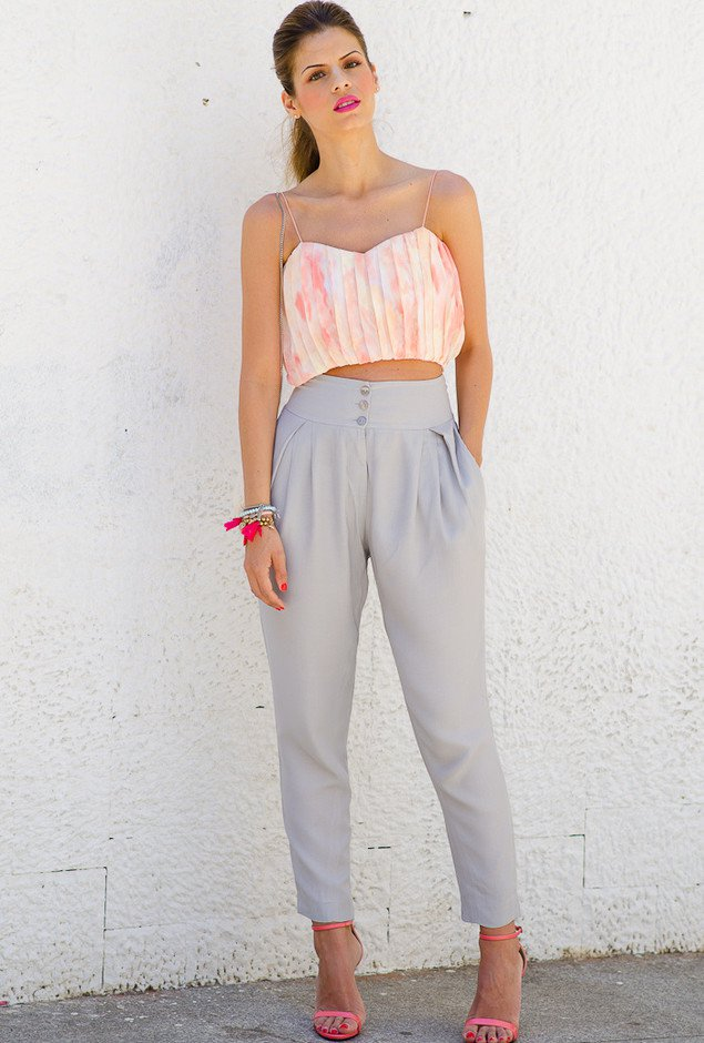Crop Top with Baggy Pants