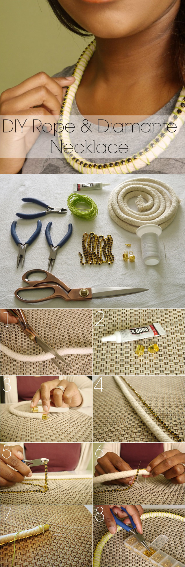 Crystal Rope Necklace Tutorial