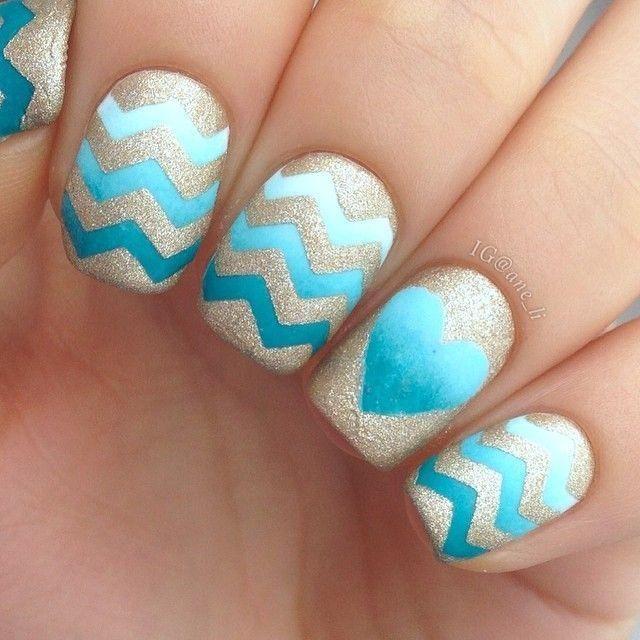 Cute Chevron Nails
