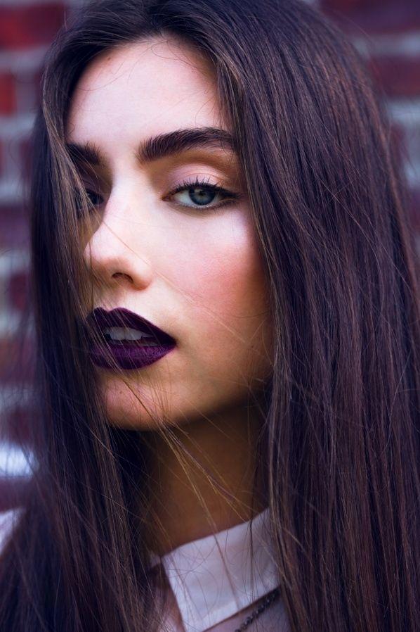 Deep Purple Lips Makeup