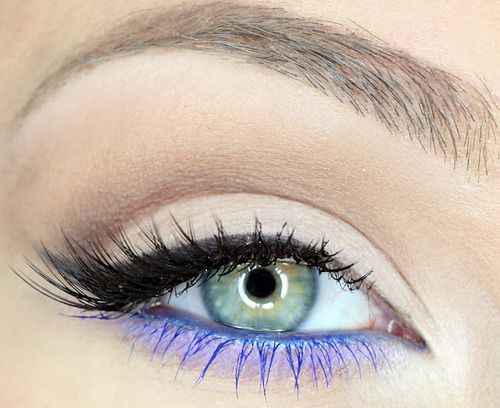Double Colored Mascara Look