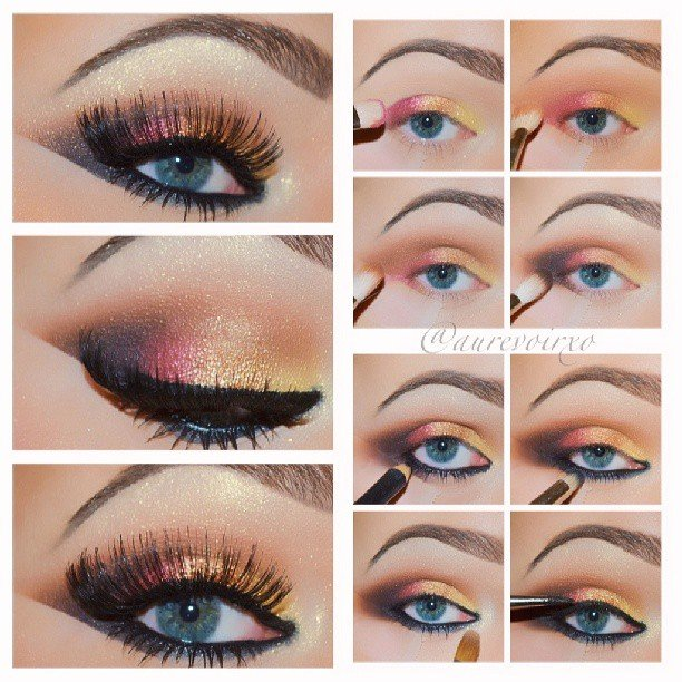 Dramatic Colorful Eye Makeup Tutorial