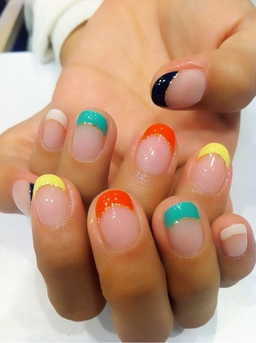 Easy Colorful Nails