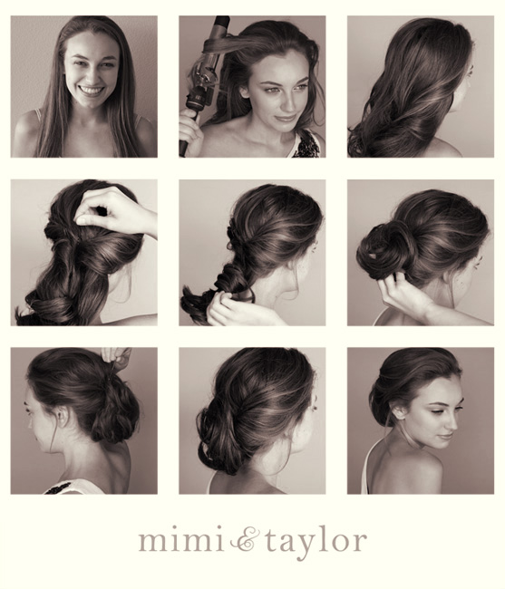 Elegant Lower Updo Hairstyle Tutorial
