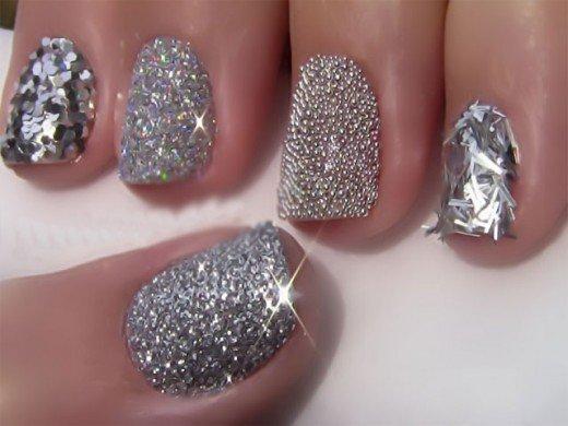 Embellished Glitter Nails