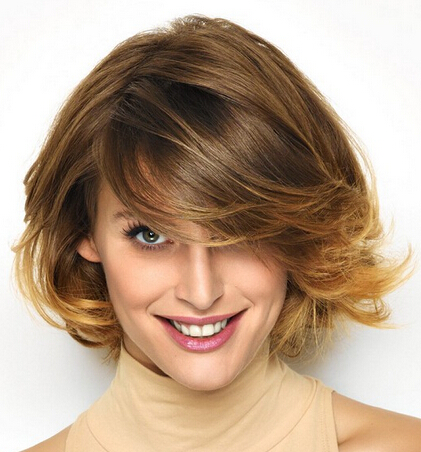 Fashionable Side-parted Short Hairstyle
