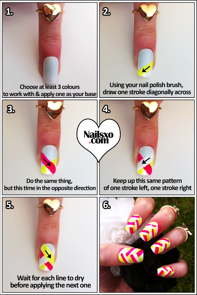 10 Easy Step by Step Nail Art Tutorials for 2017 - Pretty Designs