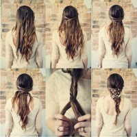 Fishtail Braided Hairstyle with Headband