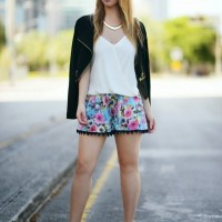 Floral Shorts and Wedges