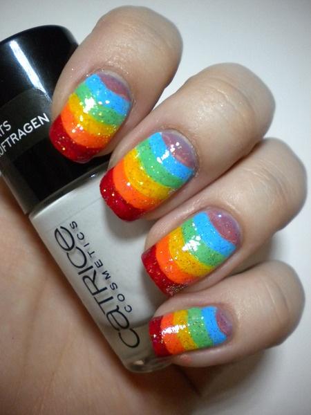 Funny Rainbow Nails