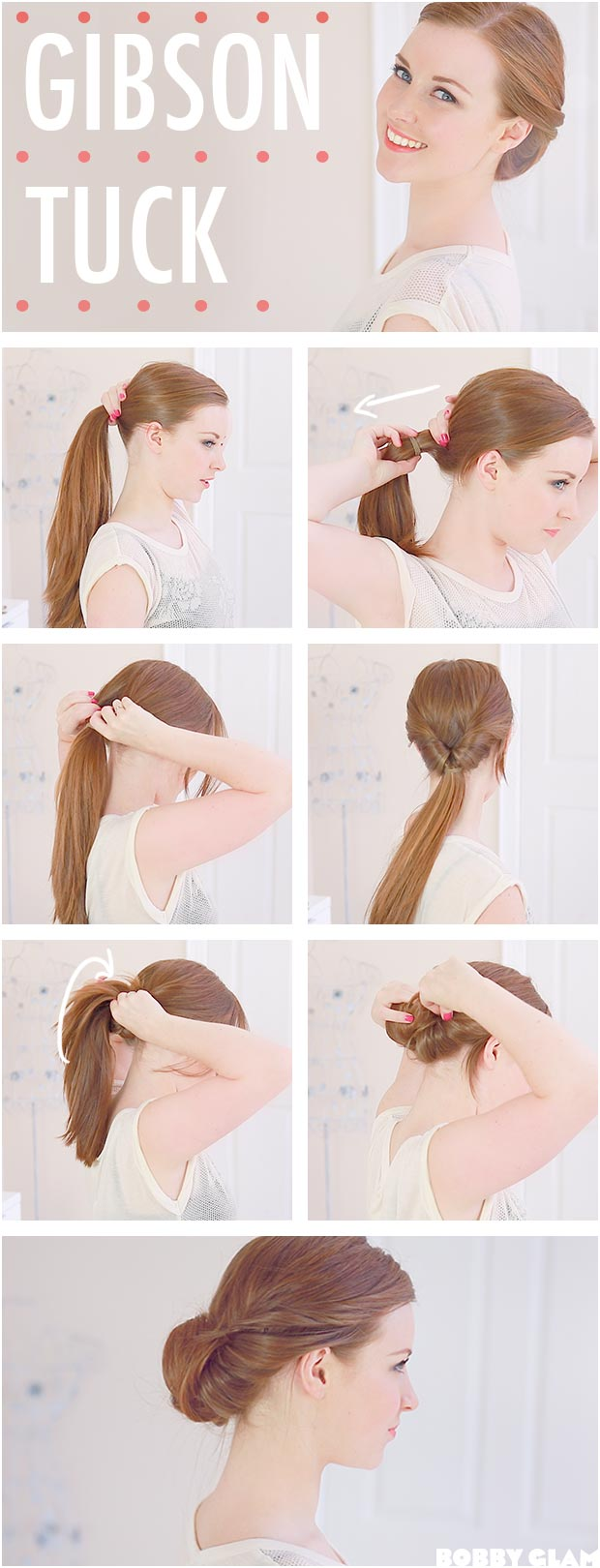 Gibson Tuck Hairstyle Tutorial