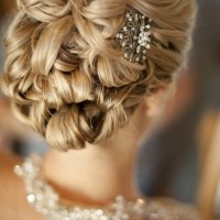 Glamorous Updo Hairstyle with Vintage Clip