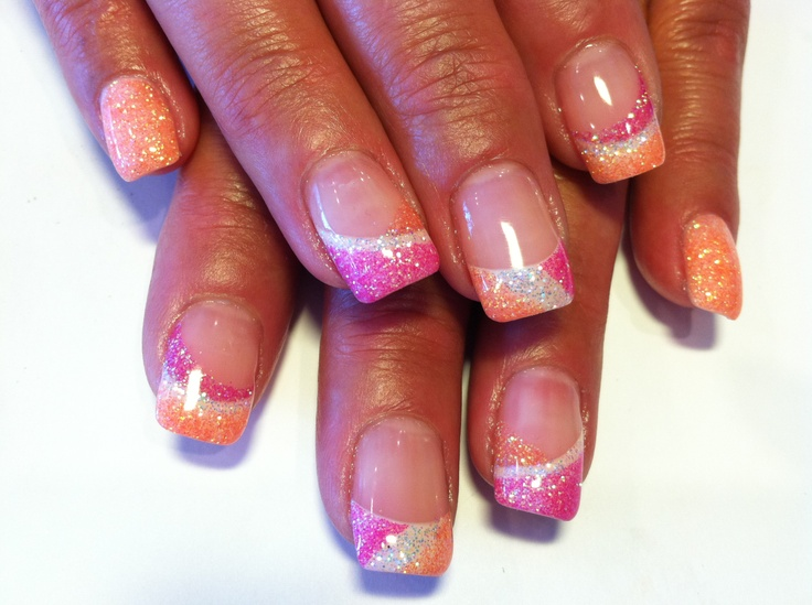 glitter gel nails - Gel Nail Design Ideas
