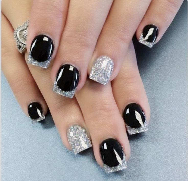 Ногти гель лак черный дизайн