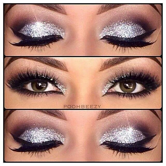 14 amazing glittery eye makeup looks pretty designs. Black Bedroom Furniture Sets. Home Design Ideas