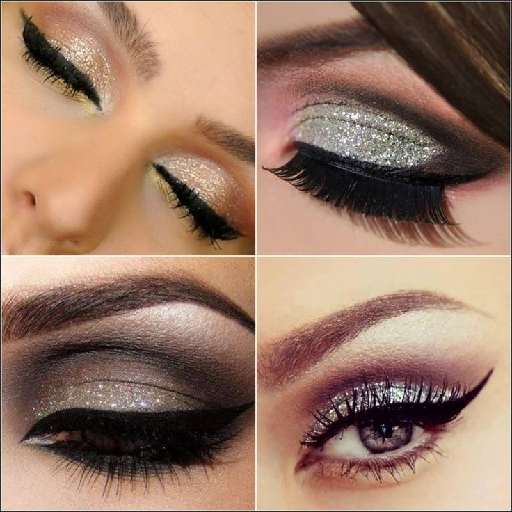 14 Amazing Glittery Eye Makeup Looks - Pretty Designs