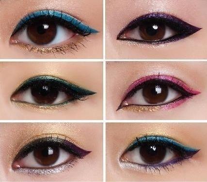 Glittery Eyeliner Looks