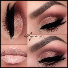 Smokey Eye Makeup With Nude Lips