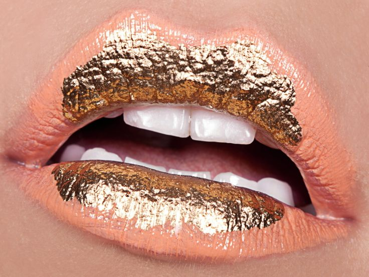 Gold and Peach Lips