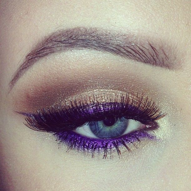 Gold and Purple Eye Makeup Look
