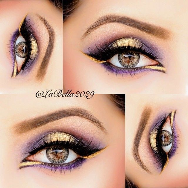 14 glamorous purple eye makeup looks pretty designs. Black Bedroom Furniture Sets. Home Design Ideas