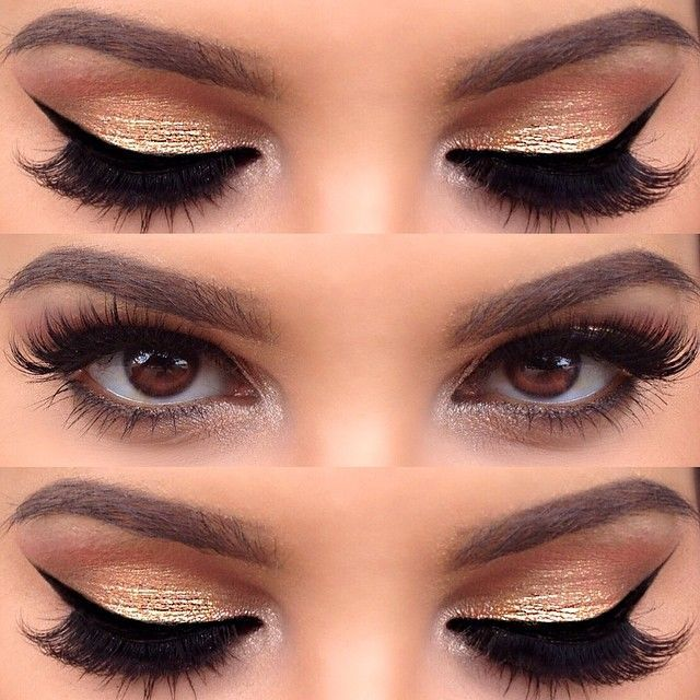 13 Charming Golden Eye Makeup Looks For 2017 Pretty Designs