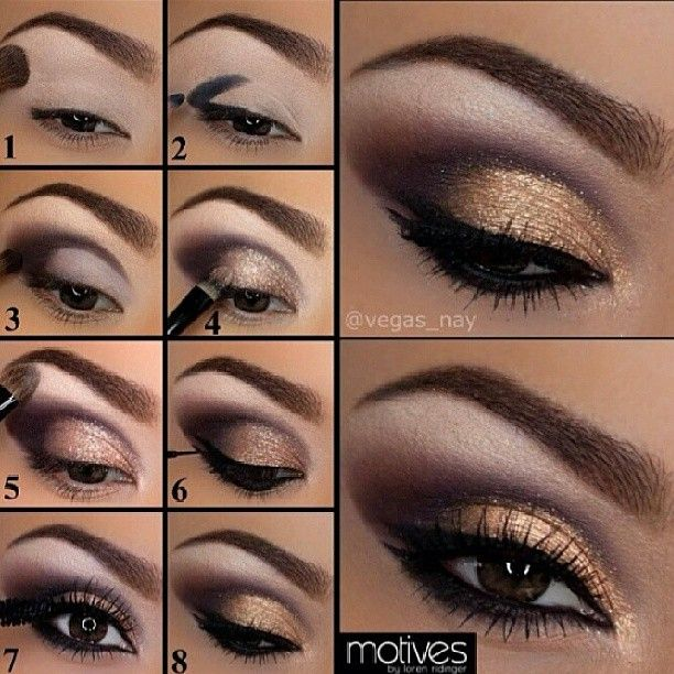 13 Charming Golden Eye Makeup Looks for 2017 - Pretty Designs