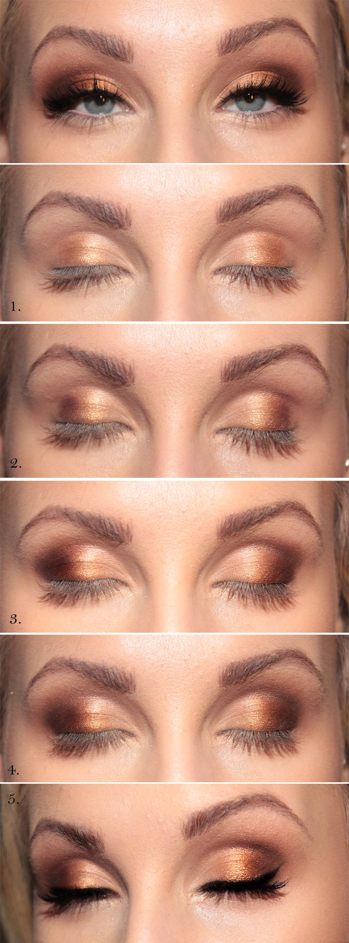 13 Charming Golden Eye Makeup Looks for 2017