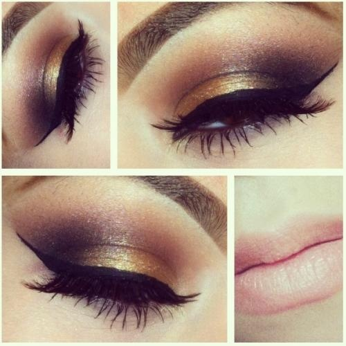 Golden Ombre Eye Makeup