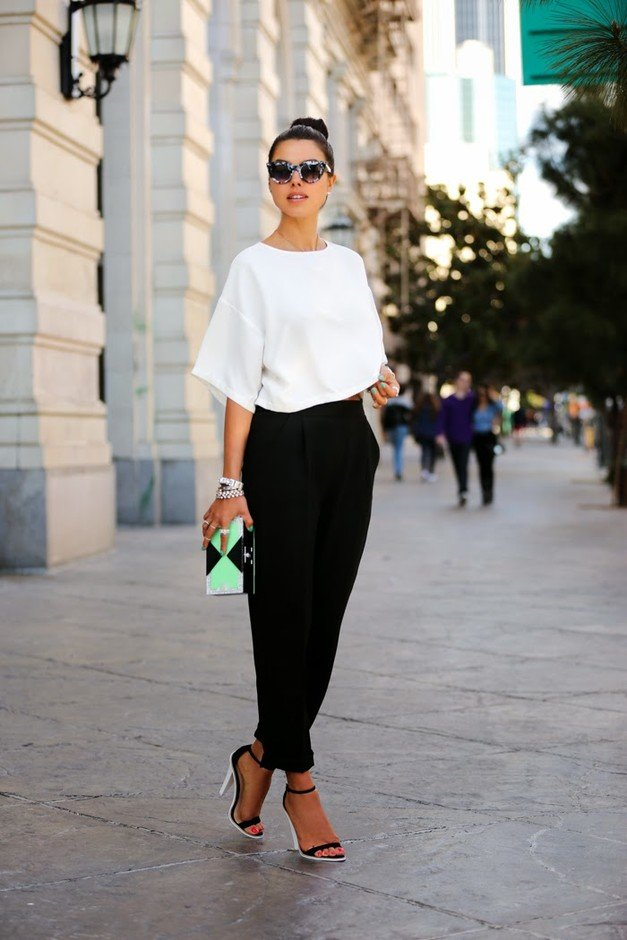 Graceful Outfit Idea with High Waisted Pants