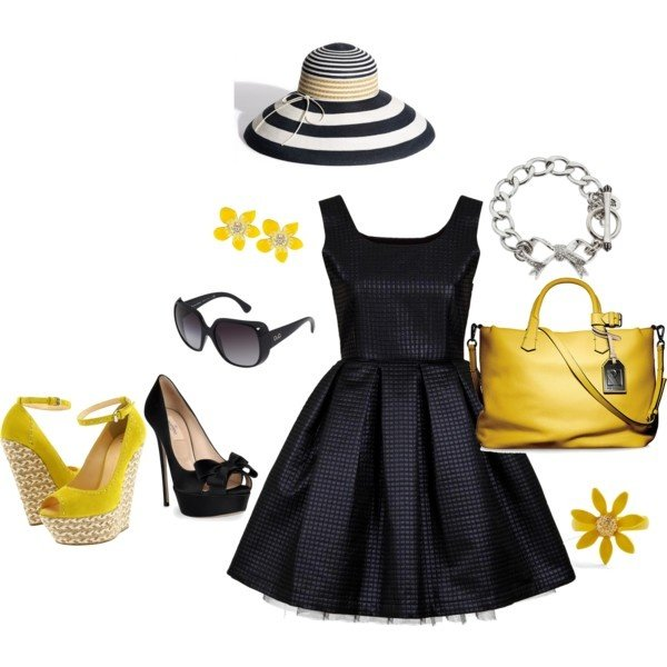Graceful Summer Outfit Idea with Black Dress