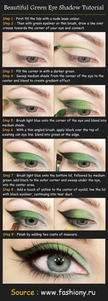 Green Eye Shadow Tutorial for Blue Eyes