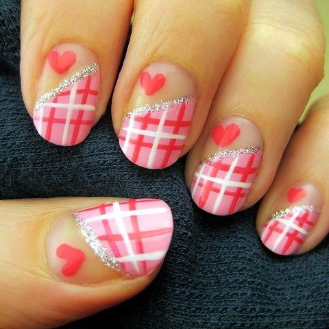 Heart Shape Nails