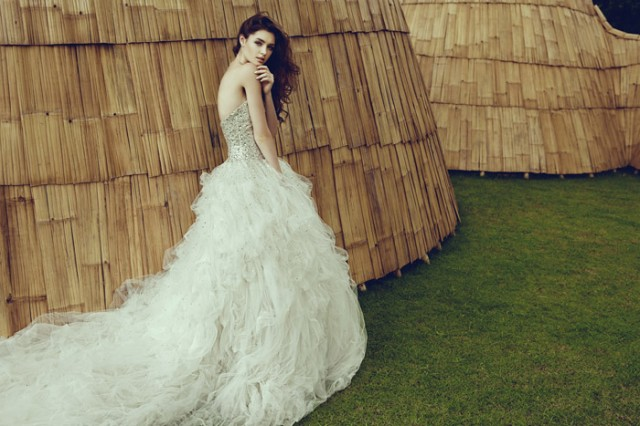 Jessicacindy Bridal 2014 Collection Full Swarovski Crystal Gown