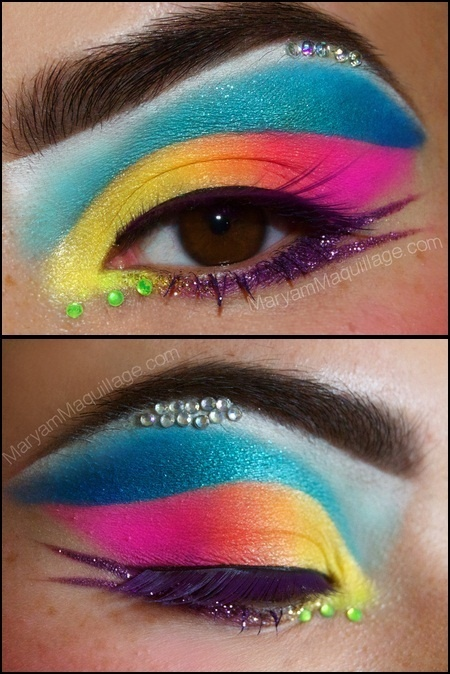 12 Fantastic Neon Makeup Looks Pretty Designs