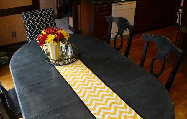 Kitchen Table Decorating Idea