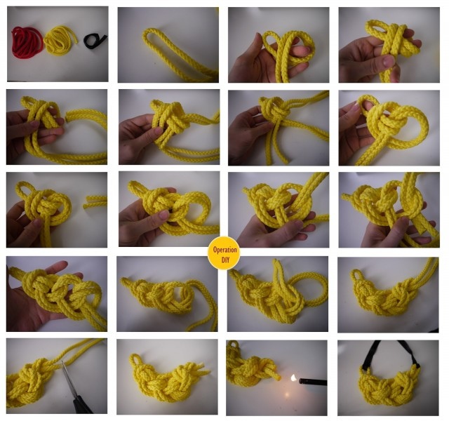 Knotted Necklace Tutorial