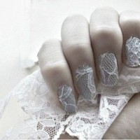 Lace Wedding Nails